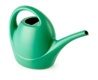 Green watering can isolated Royalty Free Stock Image