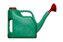 Green watering can. Isolated on white background Royalty Free Stock Image