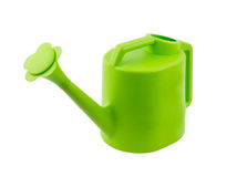 Green watering can isolated on white background Royalty Free Stock Image