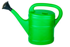 Green watering can Royalty Free Stock Images