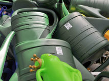Green watering cans Royalty Free Stock Photo