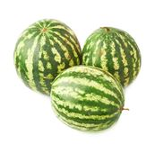 Green watermelon fruit composition isolated Stock Photos