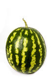 A green watermelon with water drops isolated on Stock Photo