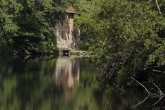 Green watermill Royalty Free Stock Photos