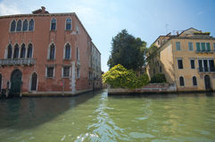 The Green Waters of Venice. At the Grande Canale. Venice Stock Photography