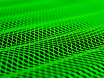 Green wave. A wavy green grid with a shallow DOF Stock Photography