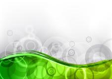 Green wave stock illustration
