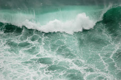 Green wave. A big green wave at Basque Country Royalty Free Stock Photography