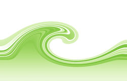 Green wave Royalty Free Stock Photos