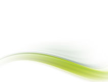 Green wave. Green dynamic wave on white background. Abstract illustration Royalty Free Stock Images