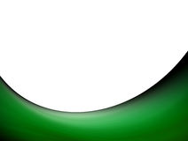 Green wave. On white background. Abstract illustration Stock Image