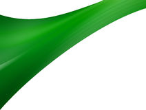 Green wave. On white background. Abstract illustration Stock Images
