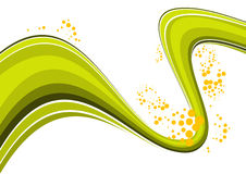 Green wave abstract stock illustration