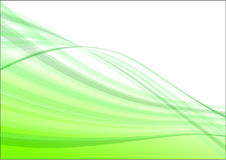 Green wave abstract vector