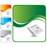 Green wave backdrop with newspaper Stock Photography