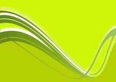 Green Wave Background stock illustration