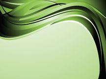 Green wave background Royalty Free Stock Image