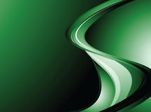 Green wave background Stock Photo