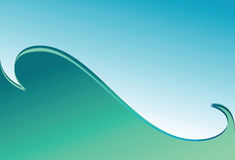Green wave. Background. Royalty Free Stock Image