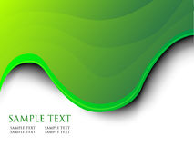 Green wave background Stock Image