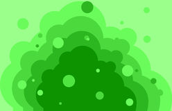 Green wave background with bubbles. Object vector Stock Images