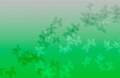 Green wave background with butterfly. Design of abstract green background with butterfly stock illustration