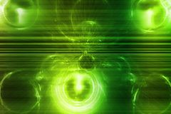 Green Wave Curve Business Information Blast Stock Image