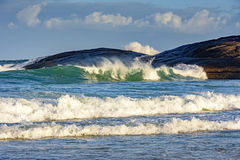 Green wave on Devil beach Stock Image