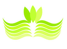Green wave emblem Stock Photography
