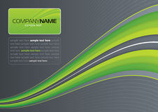 Green wave on gray Royalty Free Stock Image