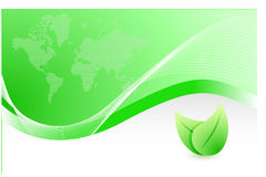 Green wave leave business illustration Royalty Free Stock Image