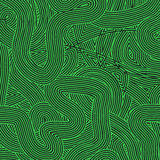 Green Wave Line Pattern Royalty Free Stock Photos