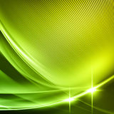 Green Wave lines Stock Photos