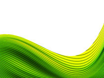 Green Wave Striped Royalty Free Stock Photography