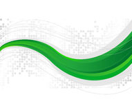 Green wave - template Royalty Free Stock Photography