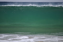 Green wave wall Royalty Free Stock Image