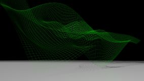 Green waved surface Stock Photo
