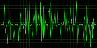 Green Waveform. Green Waveform on a dark  background Royalty Free Stock Photos