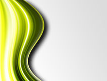 Green waves. Dynamic green waves over gray background, Space to insert text or design Royalty Free Stock Photos