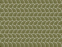 Green waves. Repeated patterns of green and white circles Royalty Free Stock Photo