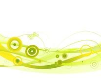 Green waves stock illustration