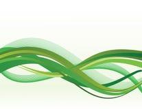 Green waves. On white background Royalty Free Illustration