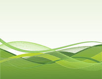 Green waves. On white background Stock Illustration