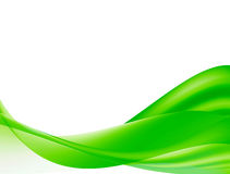 Green waves. On white background Royalty Free Stock Image