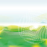 Green waves and abstract background Stock Photo