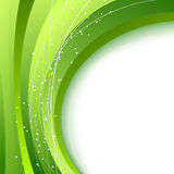 Green waves - abstract fresh spring background Stock Images