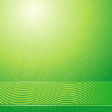Green waves abstract light background Royalty Free Stock Image
