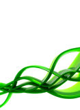 Green waves abstraction Royalty Free Stock Photos