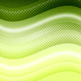Green waves background Stock Images