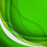 Green waves Background. Vector Illustration Royalty Free Stock Photo